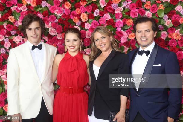 Lucas Leguizamo Allegra Leguizamo Justine Maurer and John Leguizamo attend the 72nd Annual Tony Awards at Radio City Music Hall on June 10 2018 in...