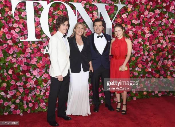 Lucas Leguizamo Justine Maurer John Leguizamo and Allegra Leguizamo attend the 72nd Annual Tony Awards at Radio City Music Hall on June 10 2018 in...