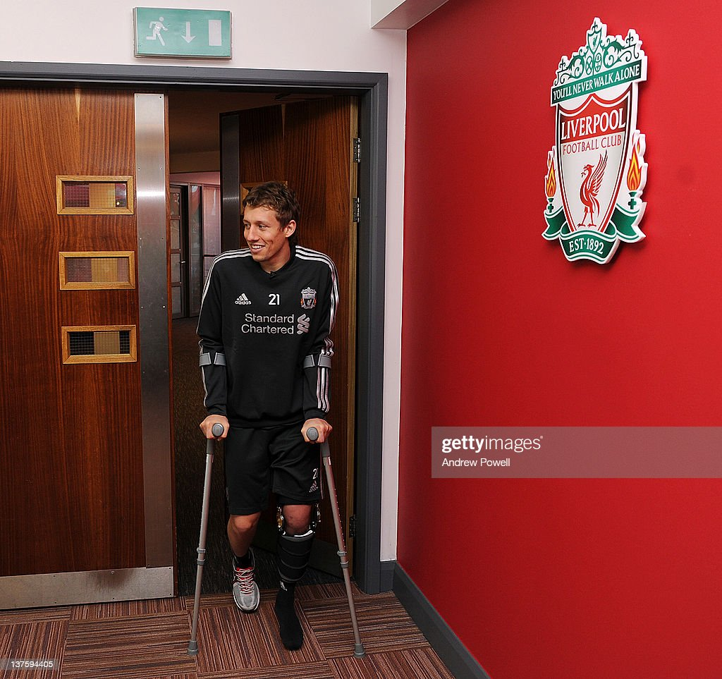 Lucas Leiva Arrives At Melwood Following Rehabilitation In Brazil