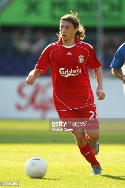 Lucas Leiva of Liverpool during the Port of Rotterdam Tournament match between Liverpool and Shanghai Shenhua FC at the De Kuip Stadium on August...