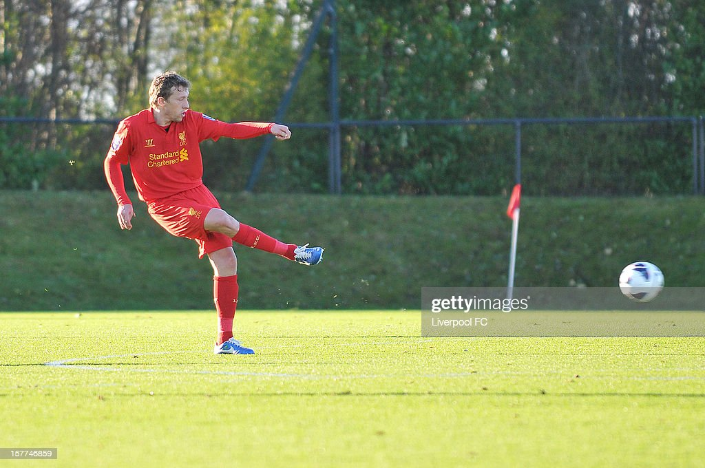Lucas Leiva of Liverpool during U21 Barclays Premier League match between Liverpool U21 and Middlesbrough U21 at The Academy on November 23, 2012 in Liverpool, England.