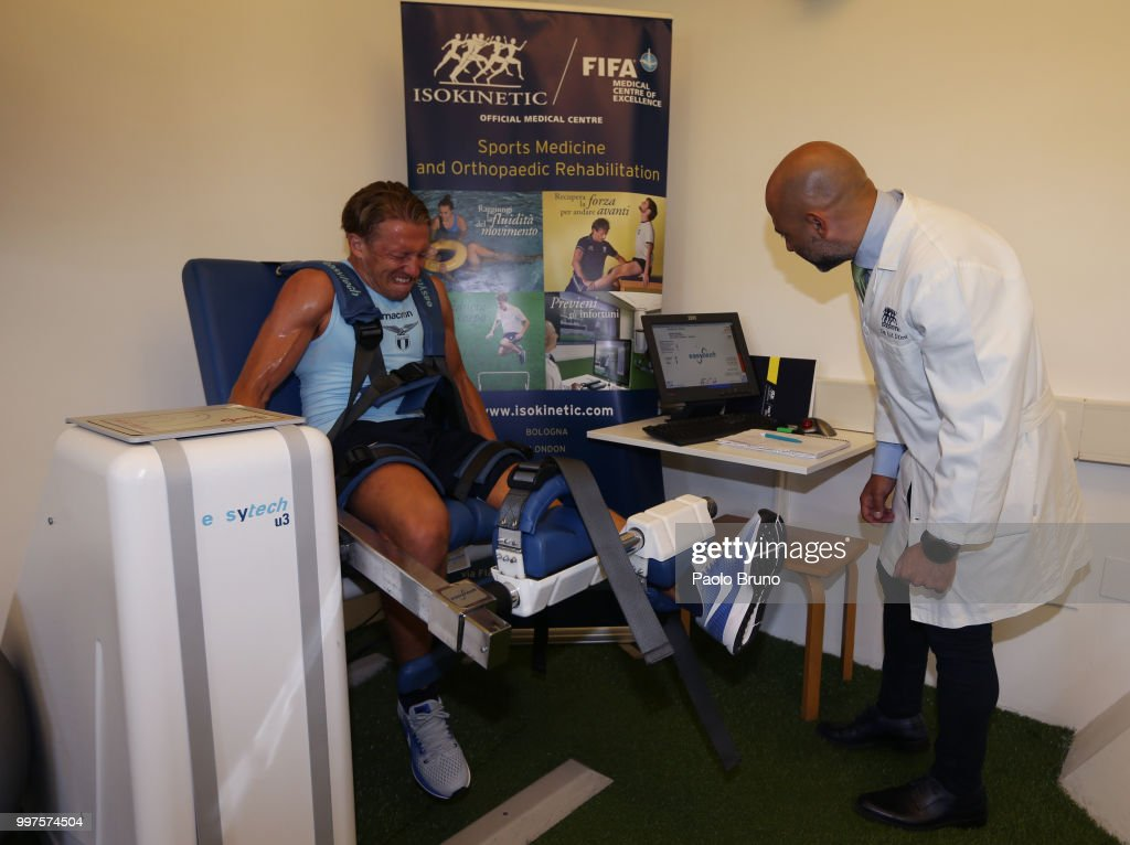 Lucas Leiva of SS Lazio attends the SS Lazio medical tests on July 13, 2018 in Rome, Italy.