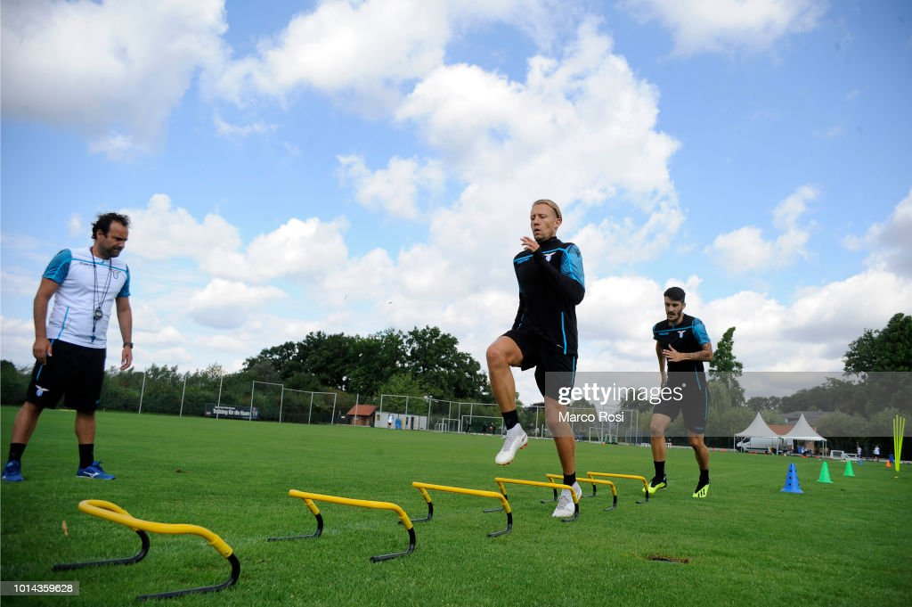 Lucas Leiva of SS Lazio during the SS Lazio training session on August 10, 2018 in Marienfeld, Germany.