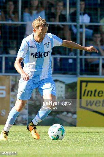 Lucas Leiva of SS Lazio in action during the preseason friendly match between SS Lazio and Bayer Leverkusen at GoldbergStadion on July 30 2017 in...