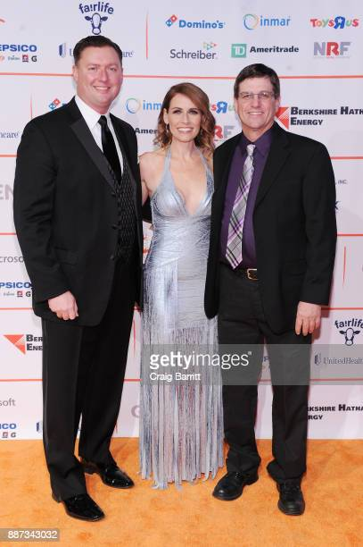 Lucas Lentsch CEO of GENYOUth Alexis Glick and Jerry Messer attend the Second Annual GENYOUth Gala at Intrepid SeaAirSpace Museum on December 6 2017...