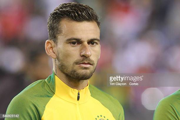 Lucas Lima of Brazil during team presentations before the Brazil Vs Peru Group B match of the Copa America Centenario USA 2016 Tournament at Gillette...