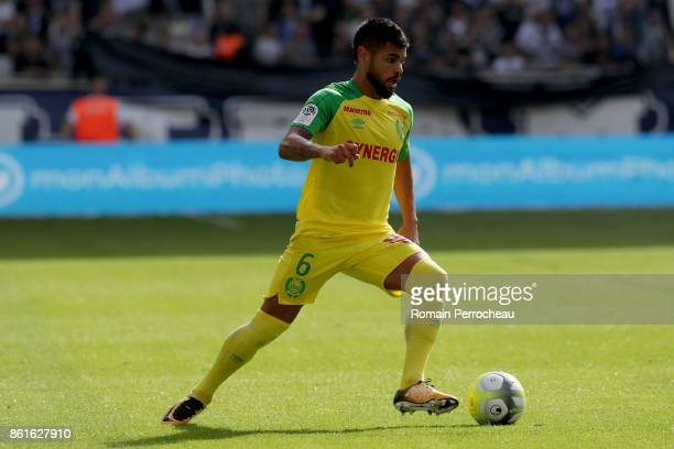 Lucas Lima of FC Nantes in action during the Ligue 1 match between FC Girondins de Bordeaux and FC Nantes at Stade Matmut Atlantique on October 15...
