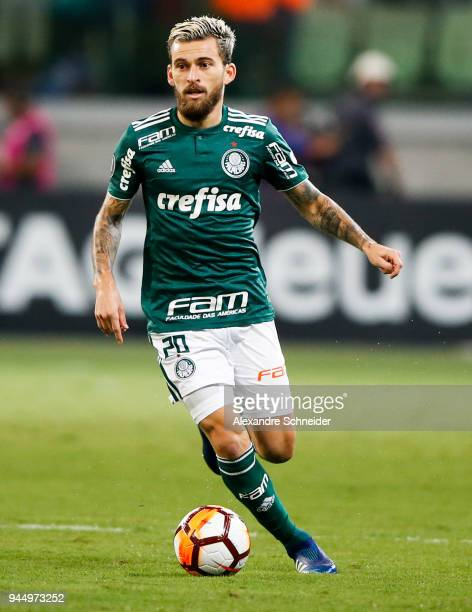 Lucas Lima of Palmeiras of Brazil in action during the match against Boca Juniors for the Copa CONMEBOL Libertadores 2018 at Allianz Parque Stadium...