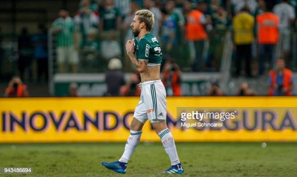 Lucas Lima of Palmeiras reacts after lose a penalty in goalkeeper Cassio of Corinthians during a match between Palmeiras and Corinthians in the final...