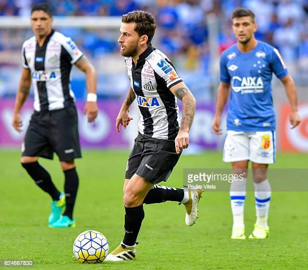 Lucas Lima of Santos a match between Cruzeiro and Santos as part of Brasileirao Series A 2016 at Mineirao stadium on November 20 2016 in Belo...