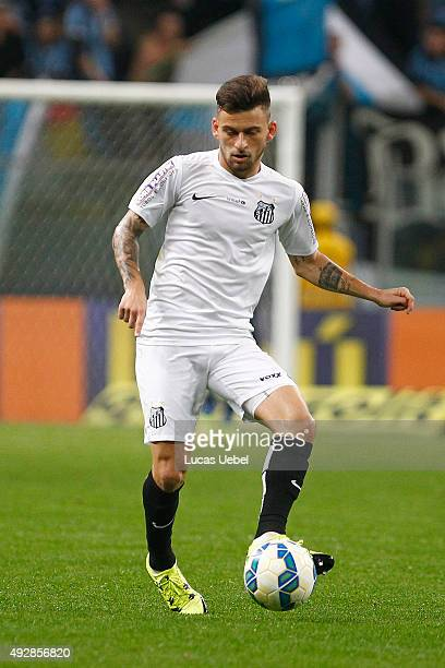Lucas Lima of Santos during the match Gremio v Santos as part of Brasileirao Series A 2015 at Arena do Gremio on October 15 2015 in Porto Alegre...