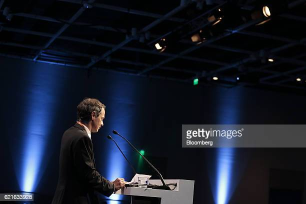 Lucas Llach deputy governor of the Central Bank of the Argentine Republic pauses during the 50th Anniversary Federation of Latin American Banks...