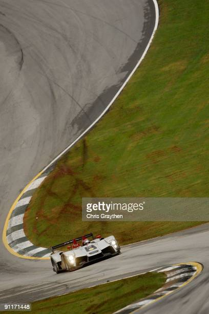 Lucas Luhr drives the Audi Sport North America Audi R15 TDI during the American Le Mans Series Petit Le Mans on September 26 2009 at Road Atlanta in...