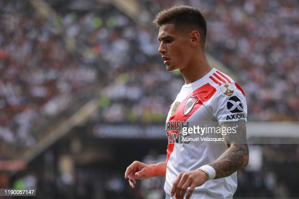 Lucas Martinez of River Plate gestures during the final match of Copa CONMEBOL Libertadores 2019 between Flamengo and River Plate at Estadio...