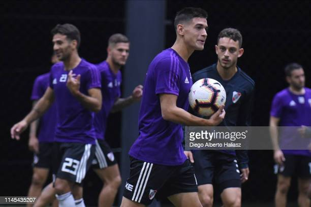 Lucas Martinez Quarta of River Plate during a training session at CAT Alfredo Gottardi on May 21 2019 in Curitiba Brazil River Plate will face...
