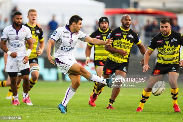Lucas Meret of Angouleme during Pro D2 match between Carcassonne and Soyaux Angouleme on August 24 2018 in Carcassonne France