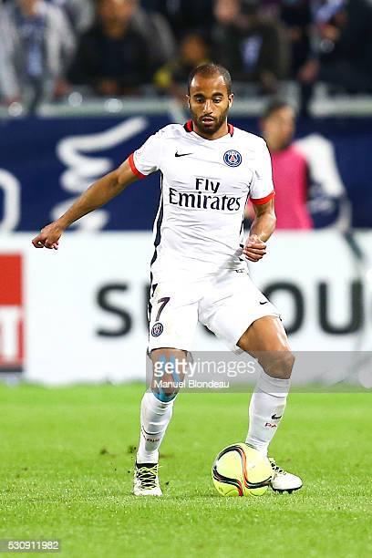 Lucas Moura of Paris SG during the French Ligue 1 match between FC Girondins de Bordeaux and Paris SaintGermain at Nouveau Stade de Bordeaux on May...