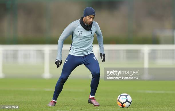Lucas Moura of Tottenham Hotspur during the Tottenham Hotspur training session at Tottenham Hotspur Training Centre on February 6 2018 in Enfield...