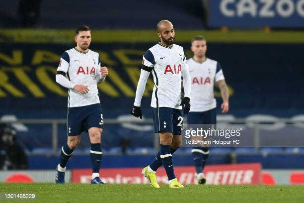 Lucas Moura of Tottenham Hotspur looks dejected after Everton's second goal scored by Richarlison during The Emirates FA Cup Fifth Round match...