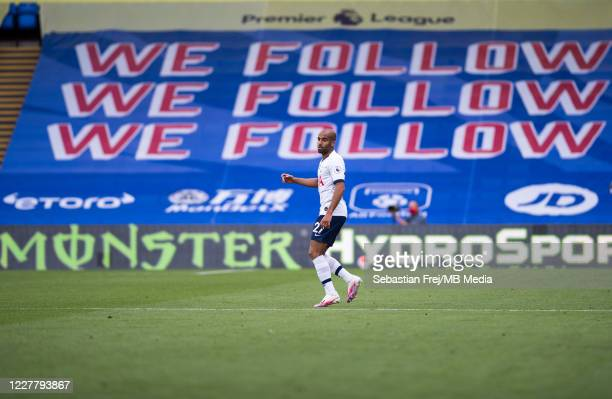 Lucas Moura of Tottenham Hotspur looks on during the Premier League match between Crystal Palace and Tottenham Hotspur at Selhurst Park on July 26...