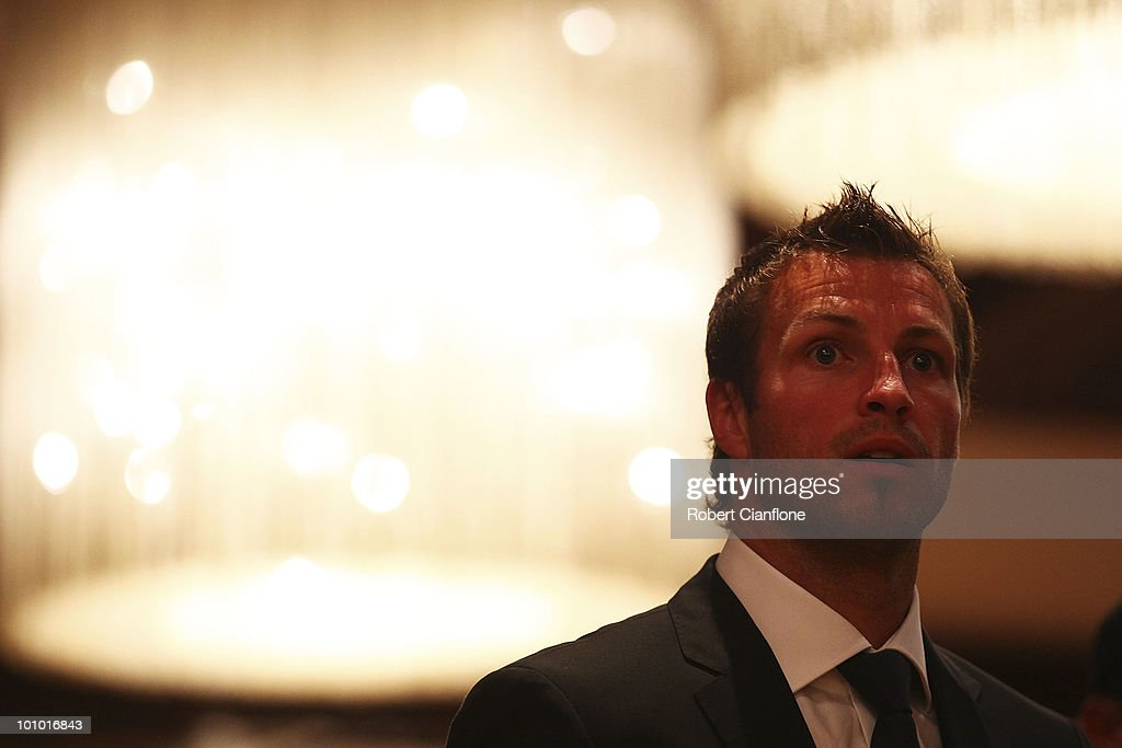 Lucas Neill of Australia is seen during an Australian Socceroos welcome function at the Sandton Sun Hotel on May 27, 2010 in Sandton, South Africa.