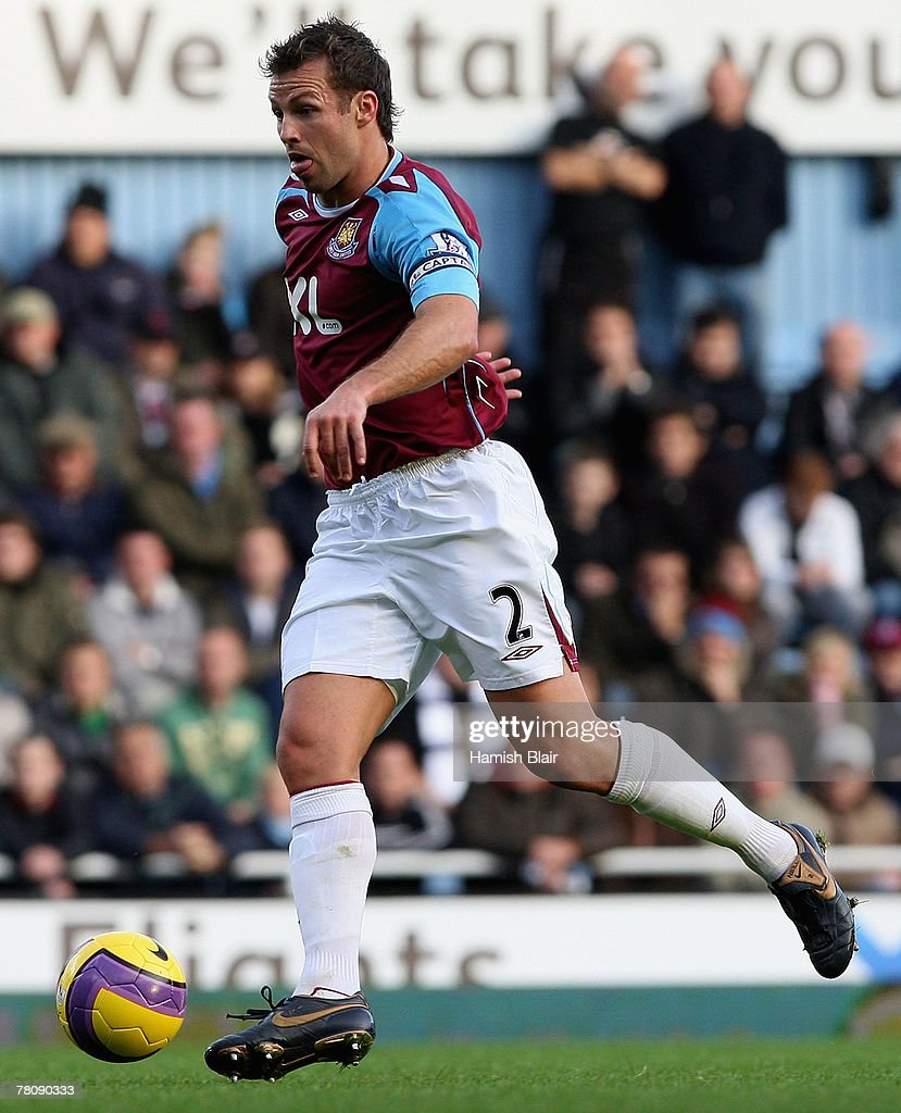 Lucas Neill of West Ham in action during the Barclays Premier League match between West Ham United and Tottenham Hotspur at Upton Park on November 25, 2007 in London, England.