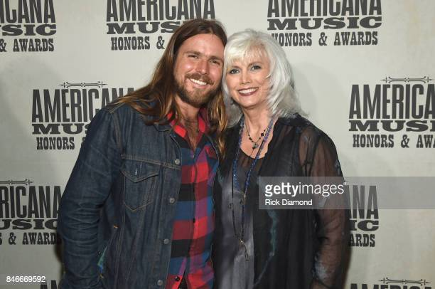 Lucas Nelson and Emmylou Harris attend the 2017 Americana Music Association Honors Awards on September 13 2017 in Nashville Tennessee