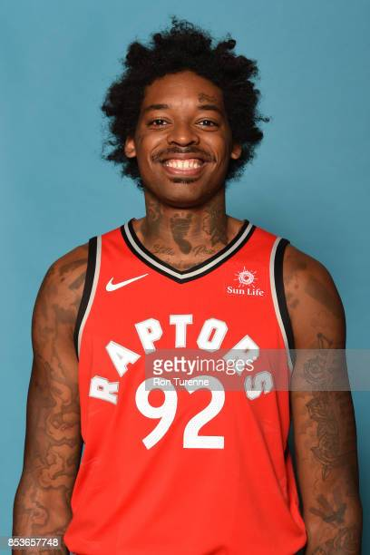 Lucas Nogueira of the Toronto Raptors poses for a head shot during Media Day on September 25 2017 at the BioSteel Centre in Toronto Ontario Canada...