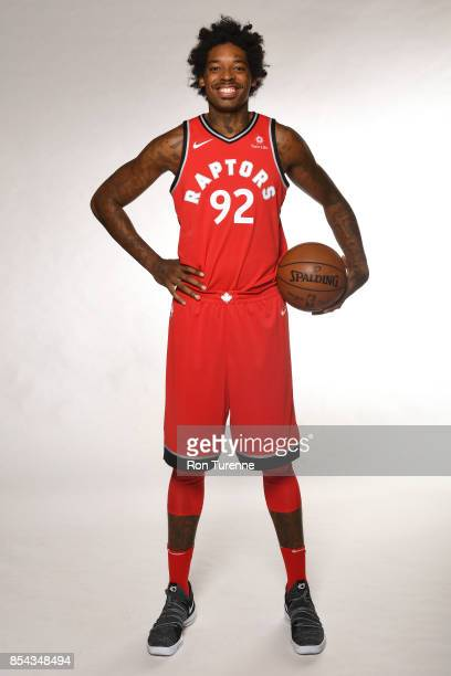 Lucas Nogueira of the Toronto Raptors poses for a portrait during Media Day on September 25 2017 at the BioSteel Centre in Toronto Ontario Canada...