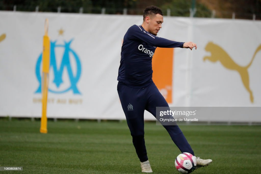 Olympique de Marseille Training Session : Fotografía de noticias