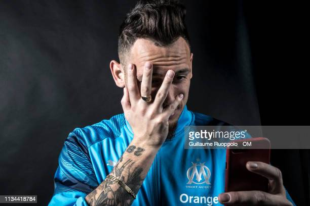 Lucas Ocampos during Olympique de Marseille Portrait Session on March 20 2019 in Marseille France