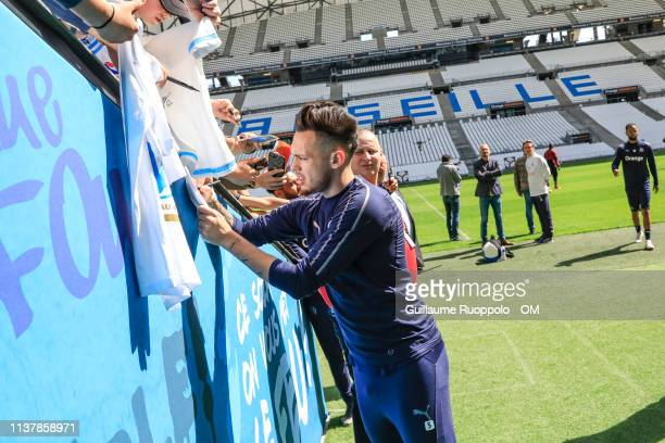 Lucas Ocampos during Olympique de Marseille Training Session at stade Orange Velodrome on April 18 2019 in Marseille France