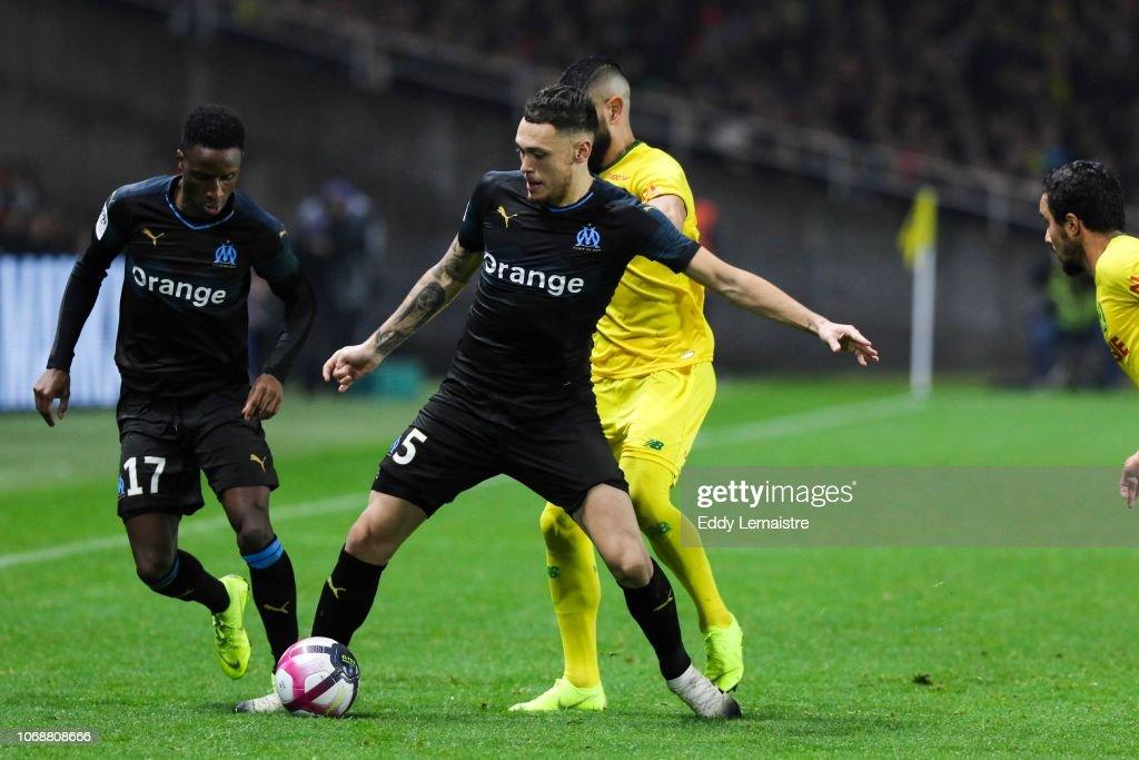 FC Nantes v Olympique de Marseille - French Ligue 1 : Fotografía de noticias