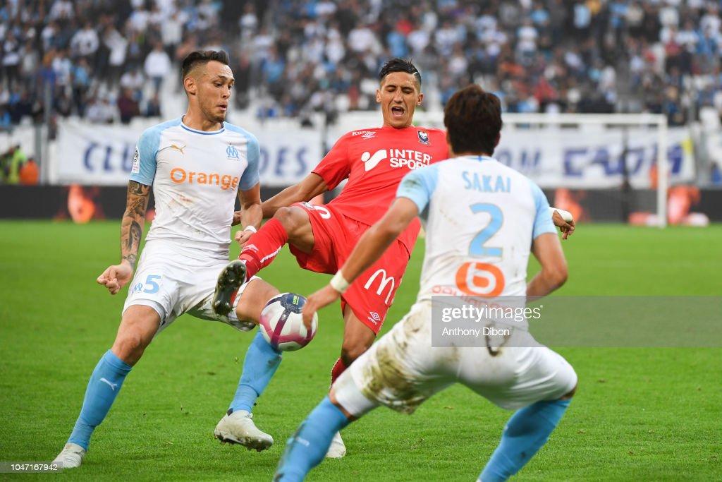 Olympique Marseille v SM Caen - Ligue 1 : Fotografía de noticias