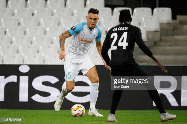 Lucas Ocampos of Marseille during the Europa League match between Marseille and Eintracht Frankfurt at Stade Velodrome on September 20 2018 in...