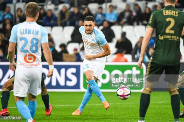 Lucas Ocampos of Marseille during the French Ligue 1 football match between Olympique Marseille and Stade de Reims on December 2 2018 in Marseille...