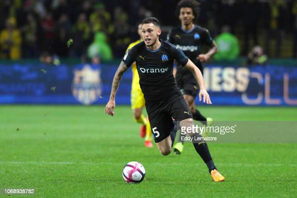 Lucas Ocampos of Marseille during the French Ligue 1 match between FC Nantes and Olympique de Marseille on December 5 2018 in Nantes France