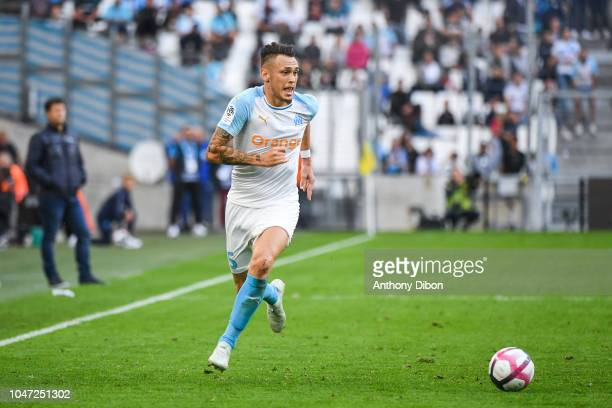 Lucas Ocampos of Marseille during the Ligue 1 match between Marseille and Caen at Stade Velodrome on October 7 2018 in Marseille France