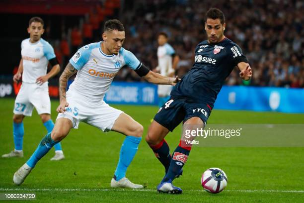 Lucas Ocampos of Marseille during the Ligue 1 match between Marseille and Dijon at Stade Velodrome on November 11 2018 in Marseille France