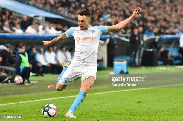 Lucas Ocampos of Marseille during the Ligue 1 match between Olympique Marseille and Paris Saint Germain on October 28 2018 in Marseille France