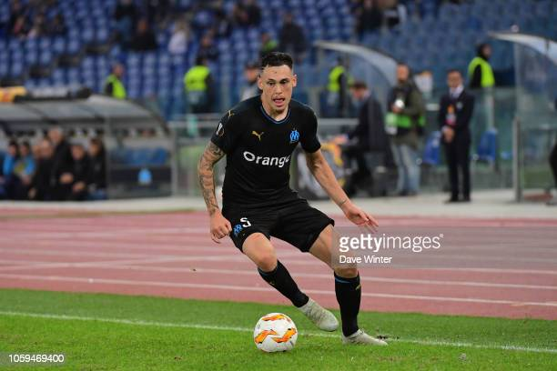 Lucas Ocampos of Marseille during the UEFA Europa League match between Lazio Rome and Marseille at Olimpico Stadium on November 8 2018 in Rome Italy