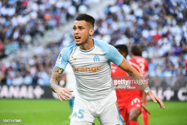 Lucas Ocampos of Marseille looks dejected during the Ligue 1 match between Marseille and Caen at Stade Velodrome on October 7 2018 in Marseille France