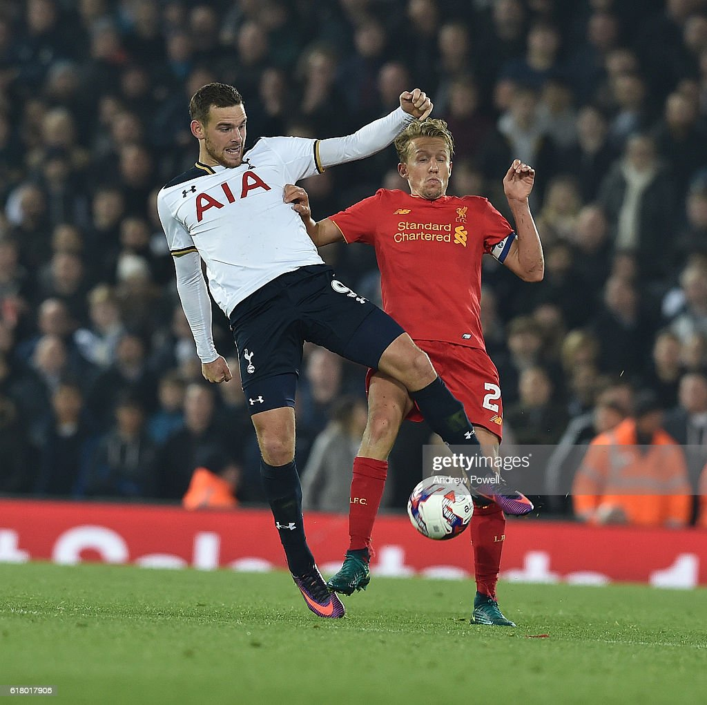 Lucas of Liverpool during the EFL Cup fourth round match between Liverpool and Tottenham Hotspur at Anfield on October 25, 2016 in Liverpool, England.
