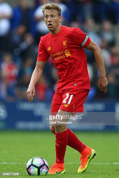 Lucas of Liverpool during the PreSeason Friendly match between Tranmere Rovers and Liverpool at Prenton Park on July 8 2016 in Birkenhead England