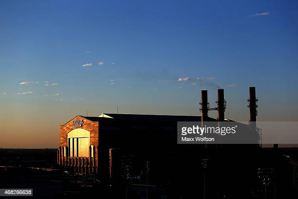 Lucas Oil Stadium home of the 2015 Final Four is seen on March 31 2015 in Indianapolis Indiana