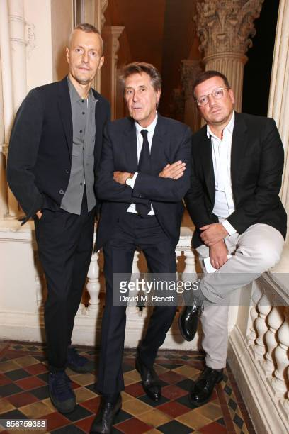 Lucas Ossendrijver artistic director for Lanvin menswear Bryan Ferry and Stefan Kalmar director of the ICA attend The Annual Friends Of The Institute...