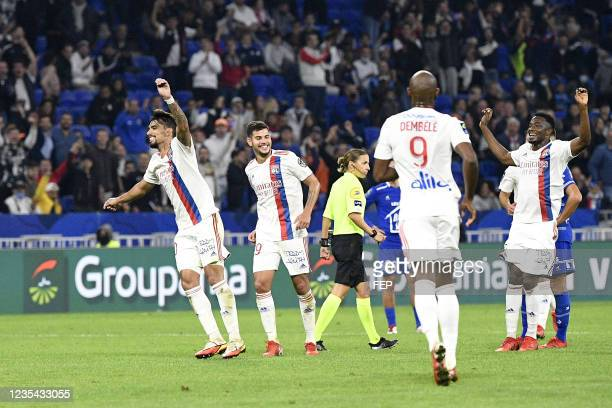 Lucas PAQUETA during the Ligue 1 Uber Eats match between Lyon and Troyes at Groupama Stadium on September 22, 2021 in Lyon, France.