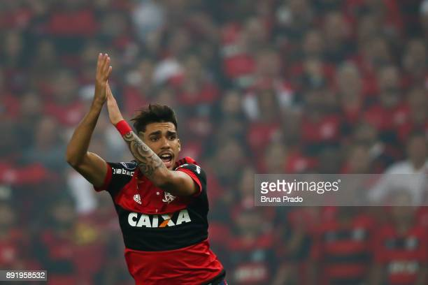 Lucas Paqueta of Flamengo during the Copa Sudamericana 2017 Final match between Flamengo and Independiente at Maracana Stadium on December 13 2017 in...