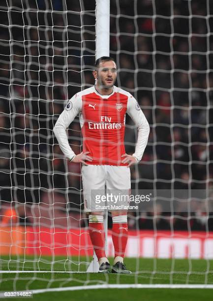 Lucas Perez of Arsenal during the Premier League match between Arsenal and Watford at Emirates Stadium on January 31 2017 in London England