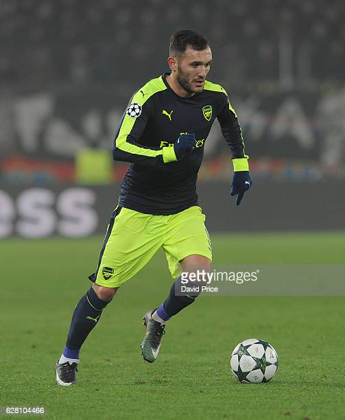 Lucas Perez of Arsenal during the UEFA Champions League match between FC Basel and Arsenal at St JakobPark on December 6 2016 in Basel BaselStadt